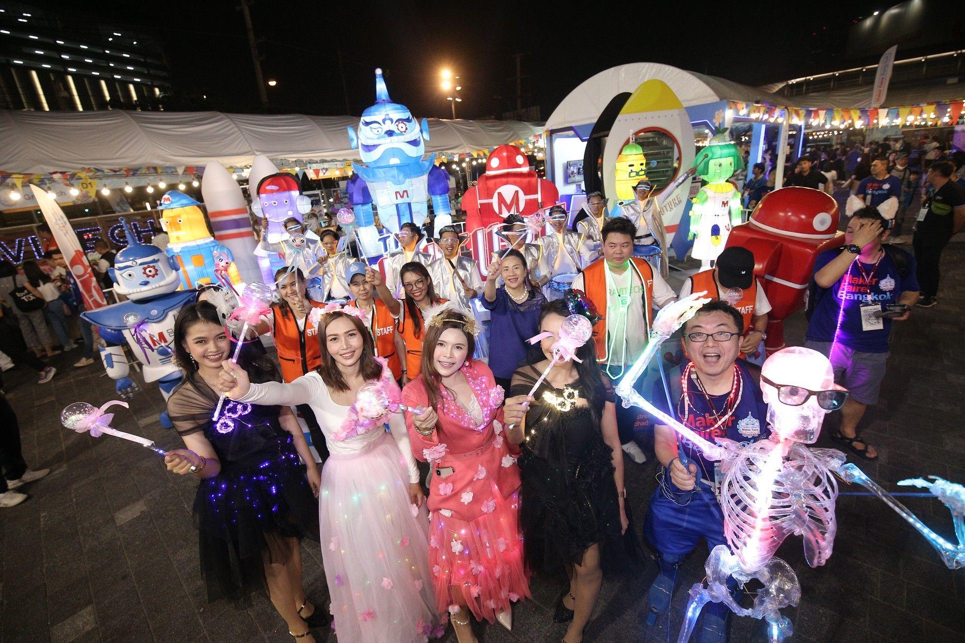 ขบวนอิเล็กทริกพาเหรด สีสันและไฮไลท์อันเป็นเอกลักษณ์ประจำงาน Maker Faire Bangkok